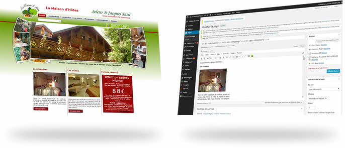 Site web dynamique sous WordPress